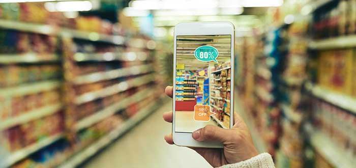 Celular tienda realidad aumentada