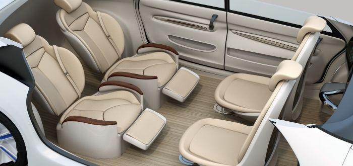 Modelo de coche autónomo interior