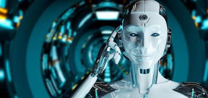 Robot en laboratorio equipado con sensores