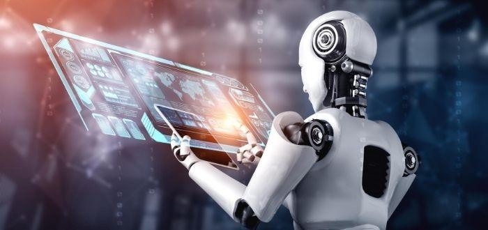 Robot haciendo uso de la realidad aumentada