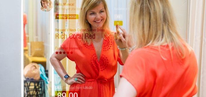 Compra de vestimenta con tecnología