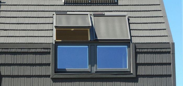 Casa con ventanas para captar la luz solar
